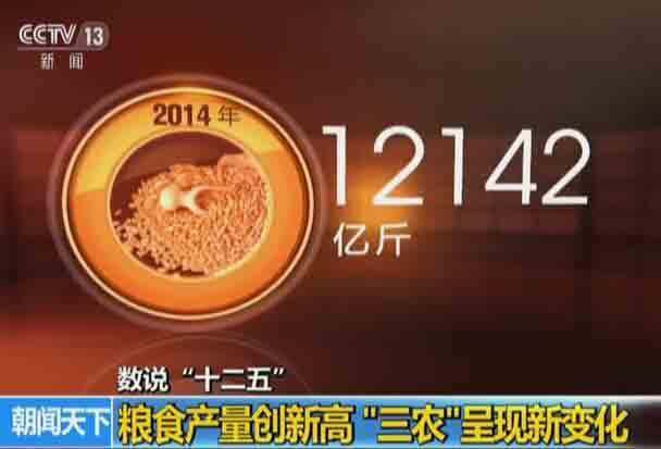 """数说""""十二五"""":粮食产量创新高  """"三农""""呈现新变化舰"""