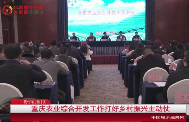 重庆市农业综合开发工作打好乡村振兴主动仗
