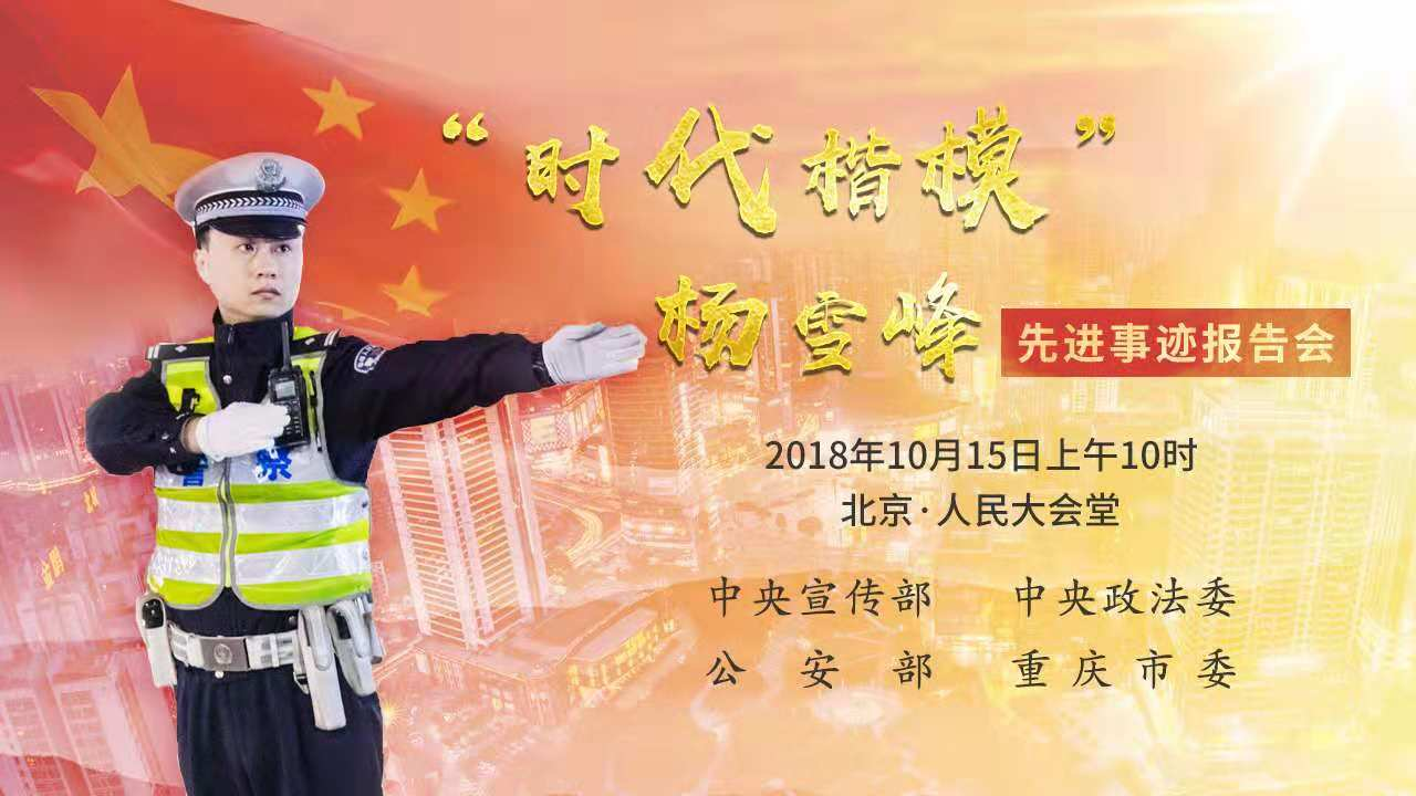 杨雪峰同志先进事迹报告会
